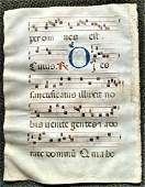 1350 Latin Leaf Is from An Antiphonal (Choir Book) RARE