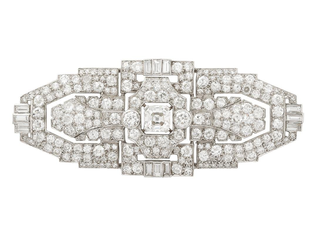 An Art Deco Diamond and Platinum Brooch, circa 1930