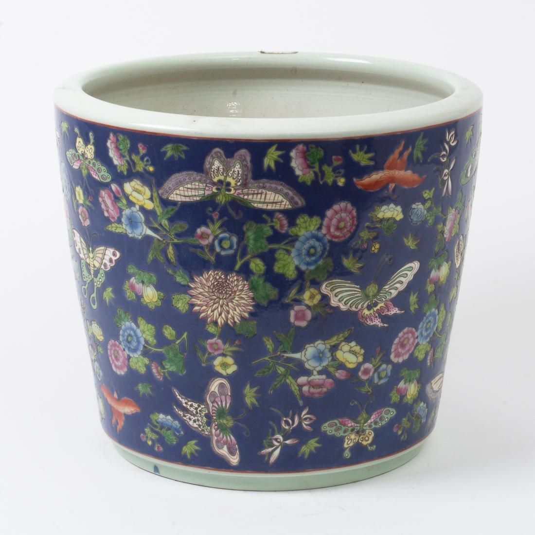 """Antique Chinese Ceramic Planter Pot 14.5"""" Diameter 12""""t"""