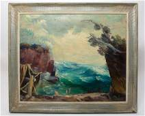 Dewey Albinson Signed Oil Painting of the North Shore