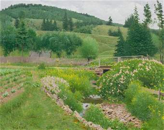 FRANK VINCENT DUMOND, American (1865-1951), Field in