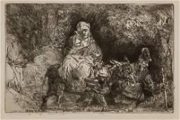 """REMBRANDT VAN RIJN (AFTER), Dutch (1606-1669), """"Flight"""