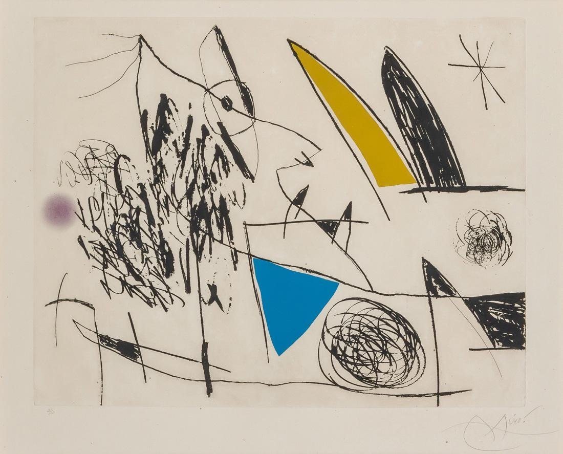 JOAN MIRO, Spanish (1893-1983), Plate VII from Serie