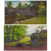 WILLIAM MERRITT POST, American (1856-1935), Bridge at