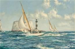 MONTAGUE DAWSON, British, oil on canvas
