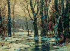JOHN F. CARLSON, American, oil on canvasboard