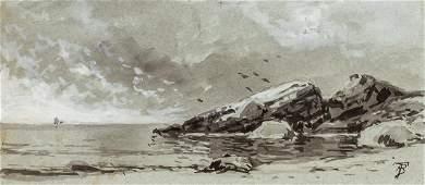 ALFRED THOMPSON BRICHER, American, watercolor en