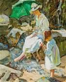 DOROTHEA SHARP, British, oil on canvas laid down on