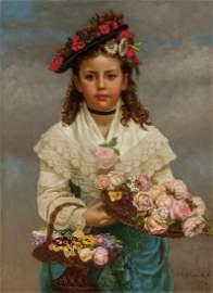 JOHN GEORGE BROWN, American, oil on canvas