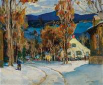 ANTHONY THIEME American oil on canvas