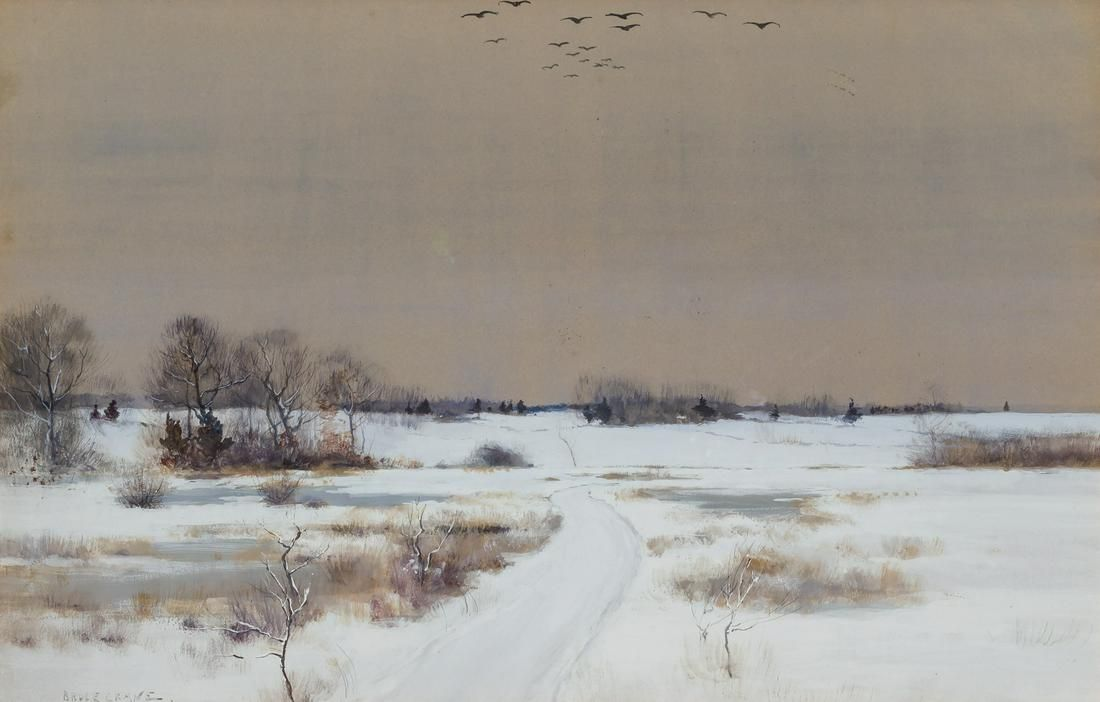 BRUCE CRANE, American, watercolor and gouache on board