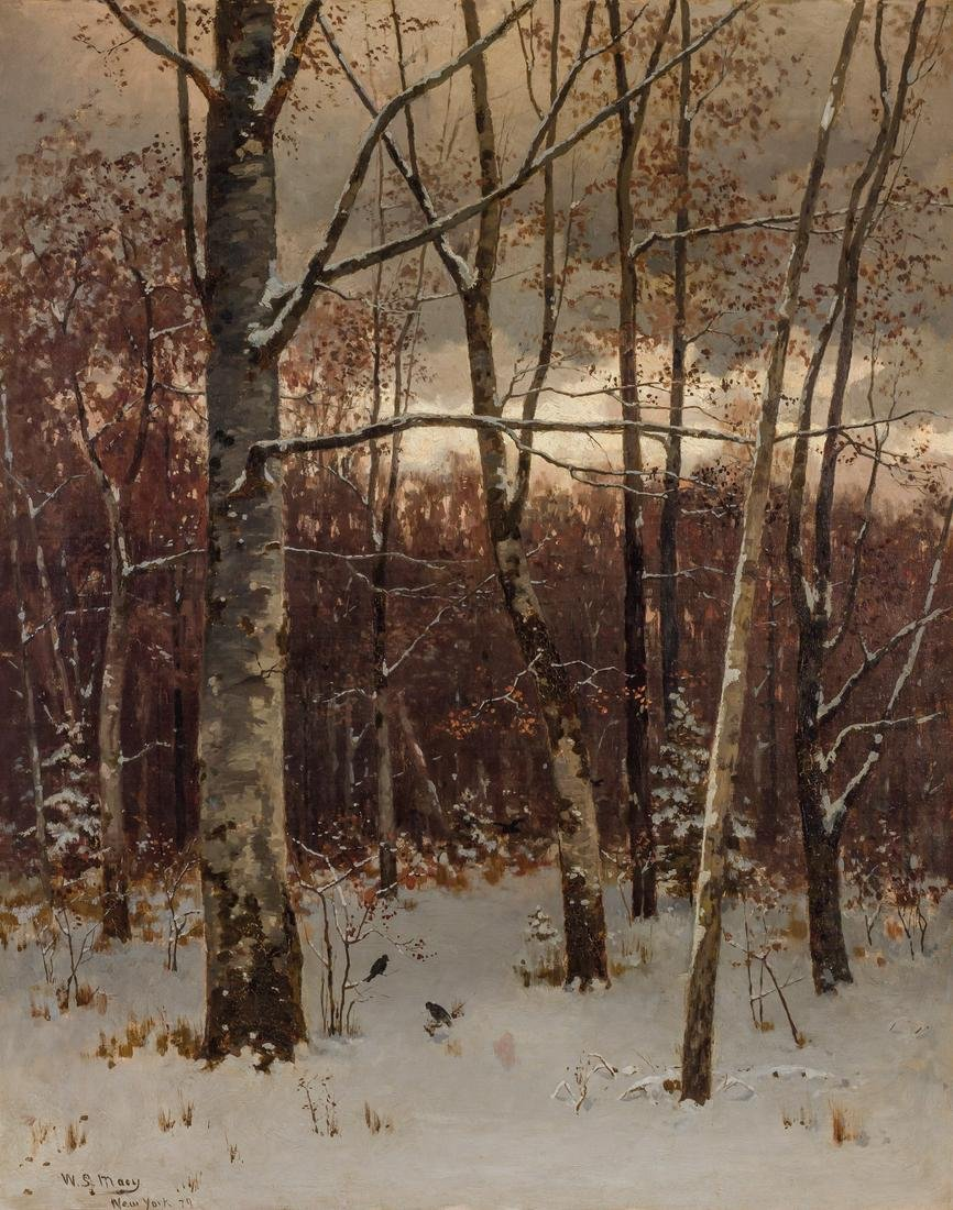 WILLIAM STARBUCK MACY, American, oil on canvas