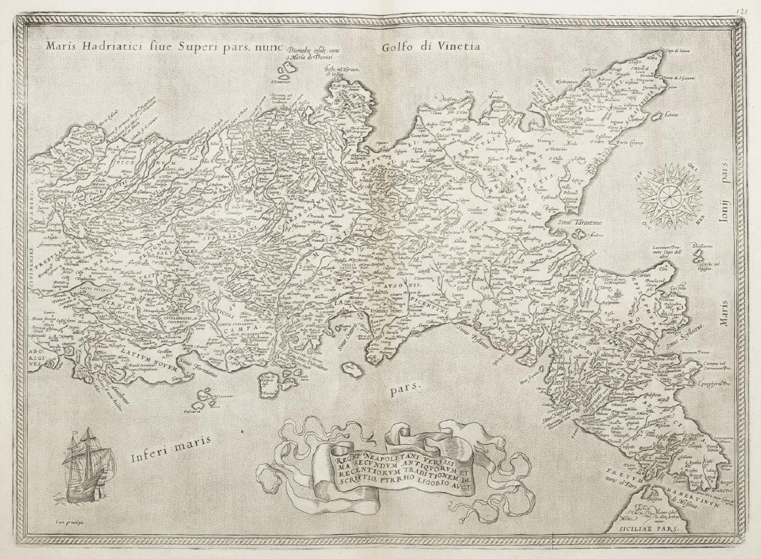 Regno di Napoli -  Ortelius, Abraham