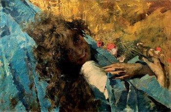 242B: Vincenzo Irolli (1860-1949) Fanciulla con fiori