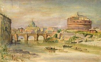 214A: Henry Parsons  Riviere (1811-1888)  Veduta di Rom