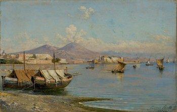 254A: Giuseppe Carelli (1858-1921) Pescatori nel Golfo