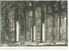 371B: Piranesi, Giovanni Battista. Veduta interna del P