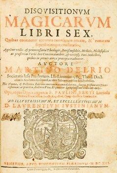 454B: Del Rio, Martin Antonio. Disquisitionum magicarum
