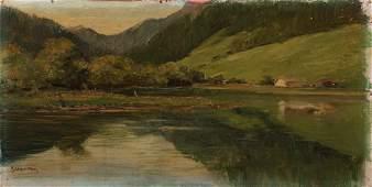 Giulio de Blaas - Mountain lake