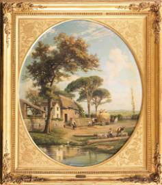 Consalvo Carelli - Life in the countryside