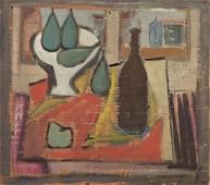 Atanasio Soldati - Fruit basket and bottle
