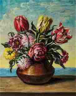 Giorgio de Chirico - Vase with flowers