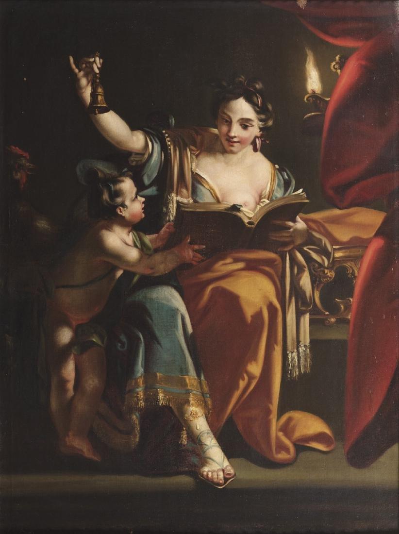 Scuola romana, secolo XVIII ()  - Allegory of the