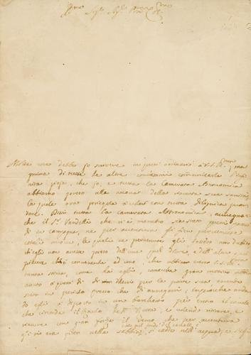 2A: Algarotti, Francesco. Lettera autografa firmata.