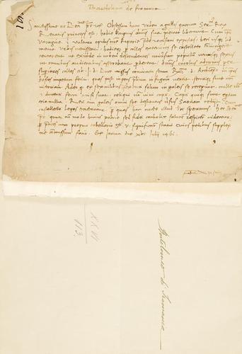 4A: Bartolomeo di Framaria. Lettera firmata.