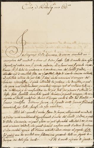 7A: Cardinale di Rohan. Lettera originale firmata.