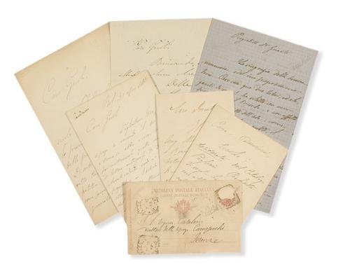 8A: Carducci, Giosuè. Lettere autografe firmate.