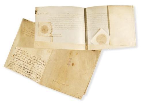 10A: Carlo di Borbone. Pergamena firmata.