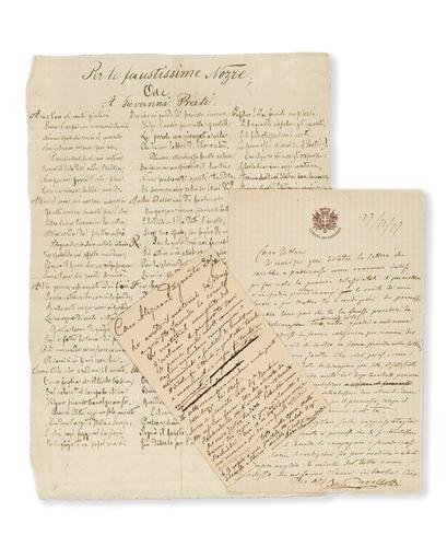 13A: Cavallotti, Felice. Lettere autografe.