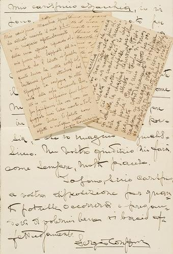 17A: Corazzini, Sergio. Lettere e cartoline autografe f
