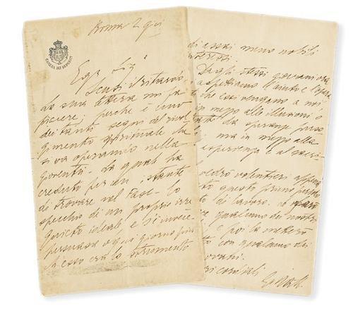35A: Matteotti, Giacomo. Lettera autografa firmata.