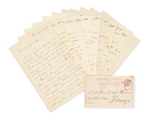 49A: Pacinotti, Antonio. Lettere autografe firmate e un