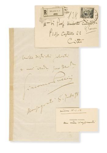 53A: Puccini, Giacomo. Lettera autografa.