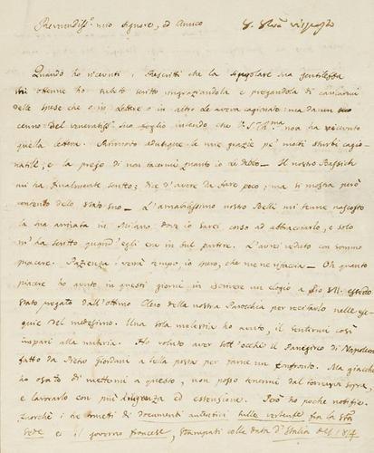 56A: Rosmini, Antonio. Lettere autografe firmate.