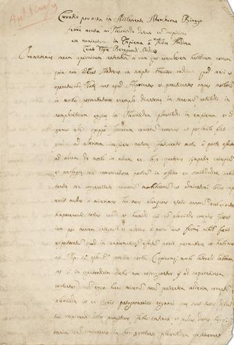 60A: Scarpa, Antonio. Consulto medico, sec. XVIII.