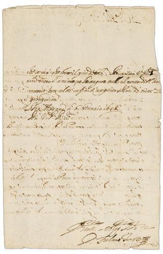61A: Testi, Fulvio. Lettera autografa firmata.