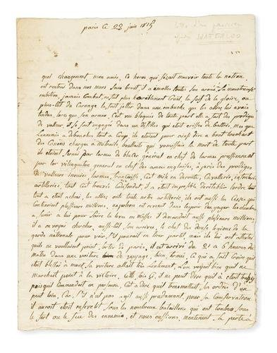 44A: Napoleone & Waterloo. Lettera su Waterloo & Relazi