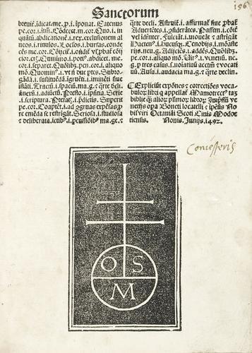 1A: Venezia, Bonetus Locatellus impensis Octaviani Sco