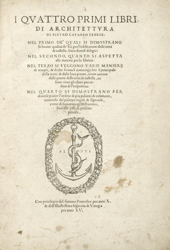 10A: Architettura - Cattaneo, Pietro. I quattro primi l