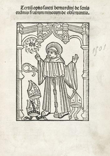 17A: Bernardino da Siena, Santo.  Tertium opus Sancti B