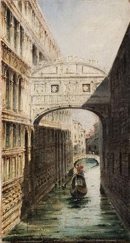 4C: Marco Grubas (1839 - 1910) Venezia, in gondola sul