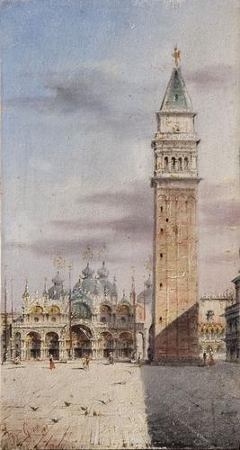 5C: Marco Grubas (1839 - 1910) Venezia, la Chiesa e il