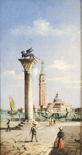 6C: Marco Grubas (1839 - 1910) Venezia, passeggio a Sa