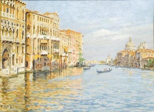 11C: Zaccaria Dal Bo (1872 - 1935) Venezia, Il Canal Gr
