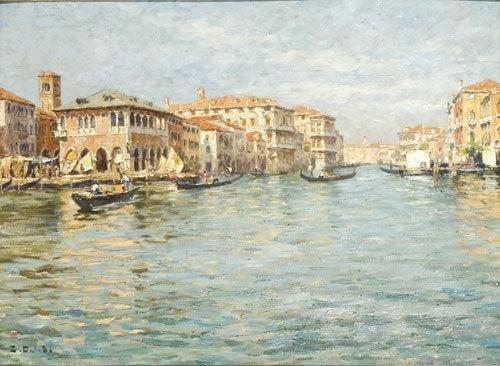 12C: Zaccaria Dal Bo (1872 - 1935) Venezia, Il Canal Gr