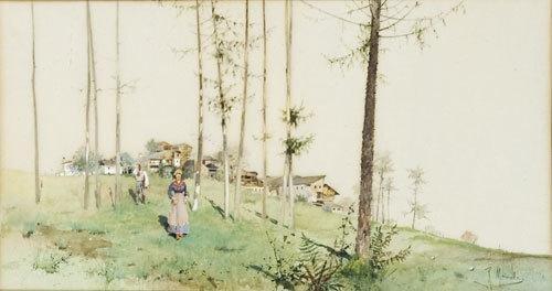 13C: Raffaele Mainella (1856 - 1941) Paesaggio di campa